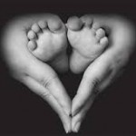 heart hands with baby toes